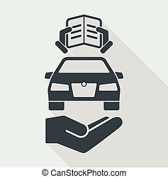Car manual guide icon