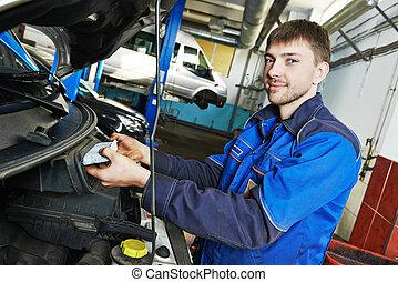 car, manutenção, -, ar, filtro, substituindo
