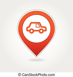 Car map pin icon