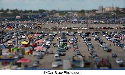Car Market. Tilt Shift