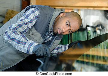 car mechanic at repair service station