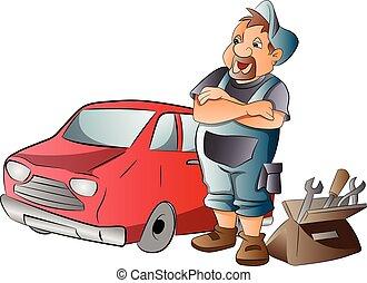 Car Mechanic, illustration