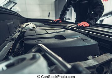 Car Mechanic Preparing For Job
