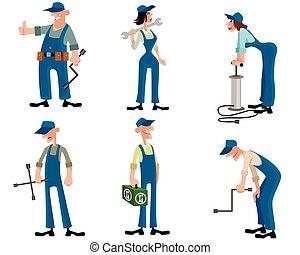 Car mechanics set - Vector illustration of a car mechanics...