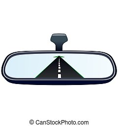 Car mirror and the road-2