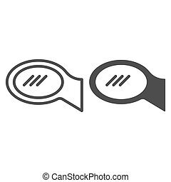 Car mirror line and glyph icon. Rear view vector illustration isolated on white. Car part outline style design, designed for web and app. Eps 10.