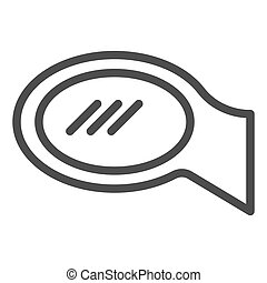 Car mirror line icon. Rear view vector illustration isolated on white. Car part outline style design, designed for web and app. Eps 10.