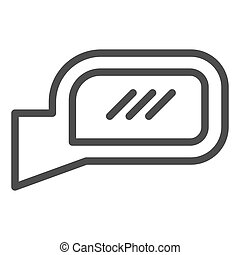 Car mirror line icon. Side mirror vector illustration isolated on white. Automobile rear mirror outline style design, designed for web and app. Eps 10.