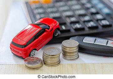 car model insurance concept