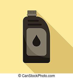 Car motor oil icon, flat style