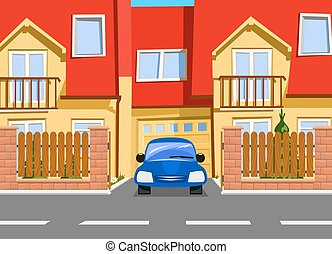 Car near the garage