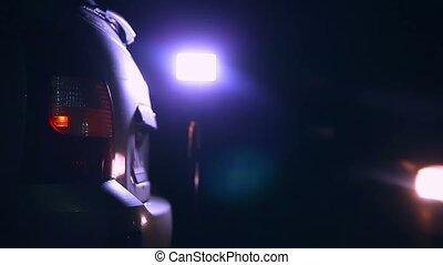 car night blinker light turn beautiful highlight road safety city