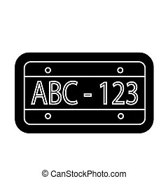 car number icon, vector illustration, black sign on isolated background