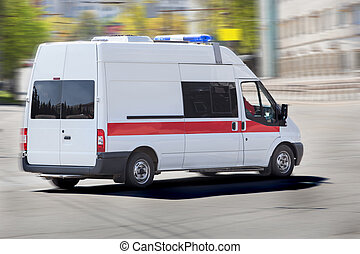car of an emergency medical service