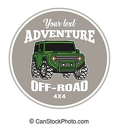 car off-road 4x4 suv trophy truck logo poster