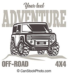 car off-road 4x4 suv trophy truck travel poster