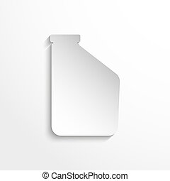 Car oil. A two-color on a gray background with shadow.
