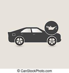 Car oil change icon, Car maintenance