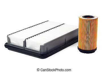 car oil filter and air