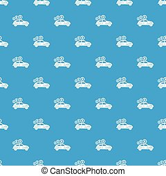 Car on credit pattern vector seamless blue repeat for any...