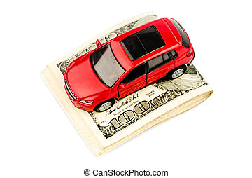car on dollar bills