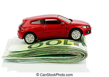 car on euro notes