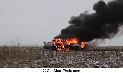 Car On Fire, Burning Car