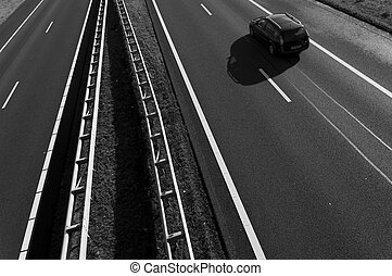 car on highway