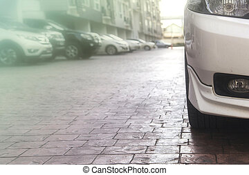 Car on Parking at the building