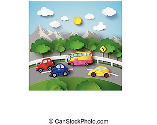 car on Road curve