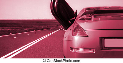 Car on the highway