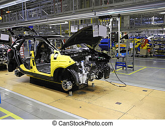 car on the production line
