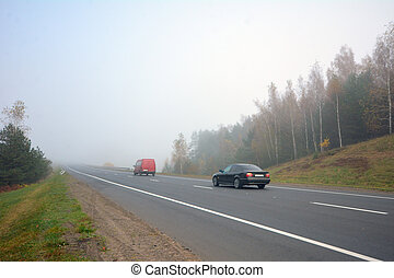 Car on the road in