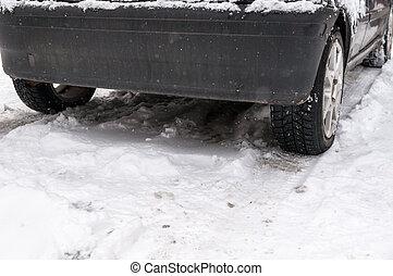 Car on the snow