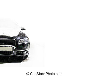 car on the winter road