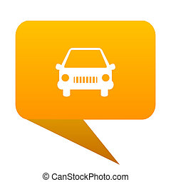car orange bulb web icon isolated.