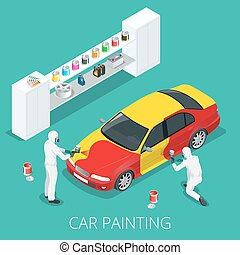 Car painting process