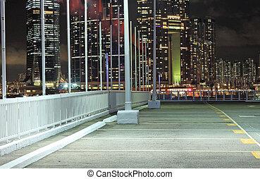 car park at night