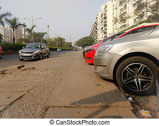 car parked on a street