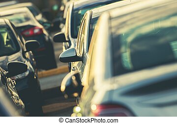 Car Parking Full of Vehicles