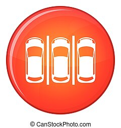 Car parking icon, flat style