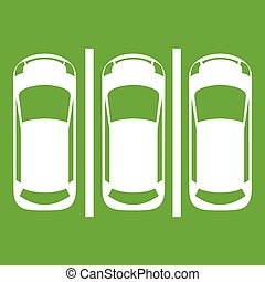 Car parking icon green