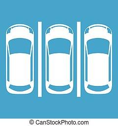 Car parking icon white