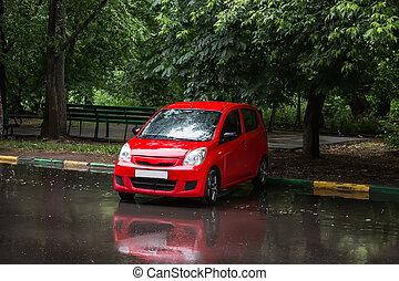 car Parking in the rain