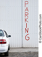 Car Parking place - Car parking place with park text on the...