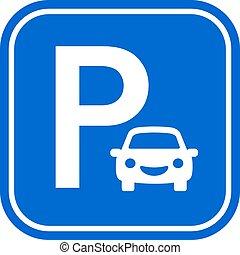 Car parking vector sign