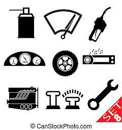 Car part icon set 8