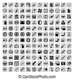 Car part icons set. Vector Illustration EPS8.