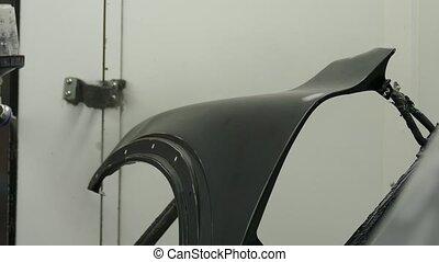 Car part painting process