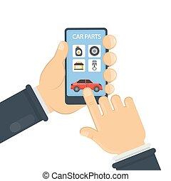 Car parts app.